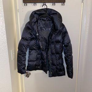 Women's black puffer jacket